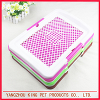 Factory wholesale pink green colored indoor dog use plastic pet toilet