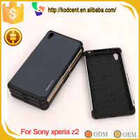 Factory price cell phone PC TPU back shockproof armor case for sony xperia z2