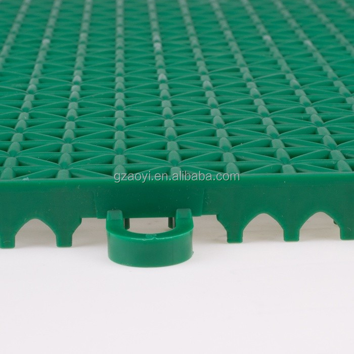 Colorful Removable Outdoor Basketball court Interlocking PP water resistant Plastic Flooring