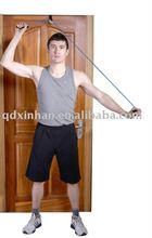 home gym shoulder pulley with door anchor for fitness exercise