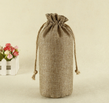 Jute Drawstring Bag With Waterproof Lining For Rice