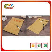 Chinese factory good quality Office A4 paper file folder school new design kraft string tie envelope