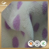 100%Polyester printed sherpa fleece fabric Faux Fur Fabric