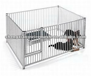 3.0m x 2.0m Galvanised Puppy Pen 0.95m (H)/dog cage/dog kennel