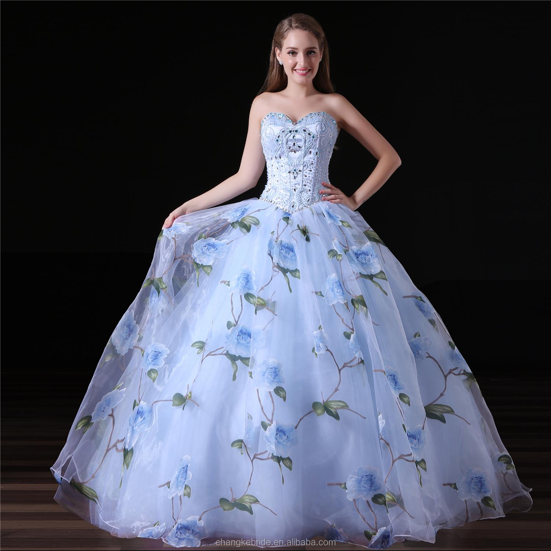 Wholesale floral print prom dresses - Online Buy Best floral print ...
