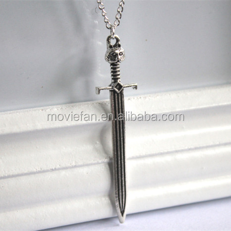 GAME OF THRONES JON SNOW Sword necklace Die Cat necklace Sword necklace Gift Jewelry