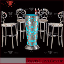 Round Shaped High Bar Nightclub Furniture For Sale Rental Led table