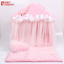 Wholesale cute bow lace princess pink pet dog bed