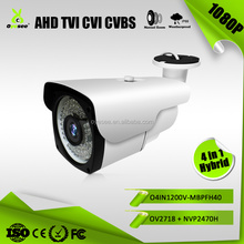 Low Illumination 1080P Hybrid 4 in 1 security camera world with 40m ir distance lens O4IN1200SS-MBPFH40