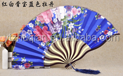 Popular OEM avalible gift use bamboo craft bamboo fan with many print