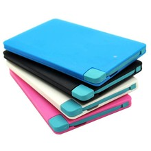 ultra slim portable power bank credit card for iPhone andriod mobile