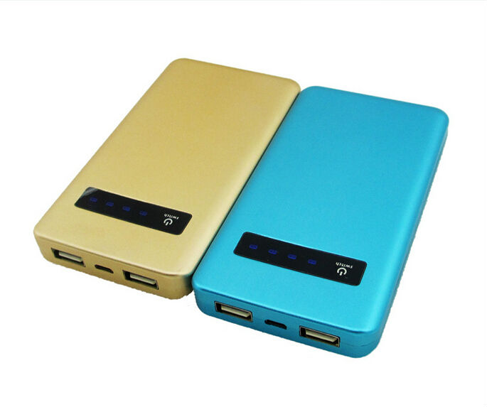 The new 8000 mA mobile power bank full capacity aluminum shell polymer batteries LED display power