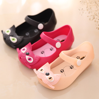 W71808G 2016 summer fashion pvc child sandal shoes for kids cat pattern comfortable footwear for children
