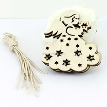 Blank Unfinished Angel Rustic Tags Wooden Christmas Ornaments Free Strings