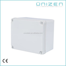Unizen waterproof cable junction box connector clear hinged lid plastic boxes 125*125*75