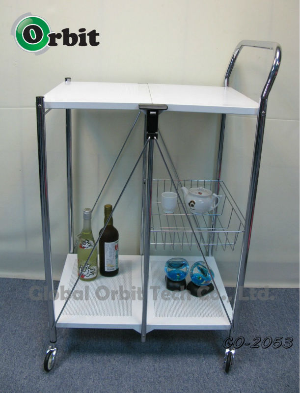 design hand cart, movable kitchen serving trolley cart