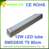 Alibaba china CE ROHS passed T5 12w SMD2835 1200lm tuv led tube