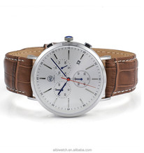 Genuine leather strap brand your own watches men luxury chronograph watch