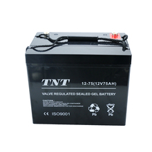 2018 Popular rechargeable 12v 75ah agm battery