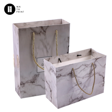 Factory new arrival Custom bags Retail shopping package laminated marble gift paper bag