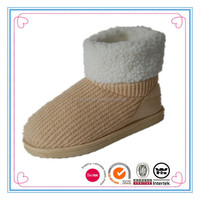 Popular camel cable knit ladies eva ankle booties