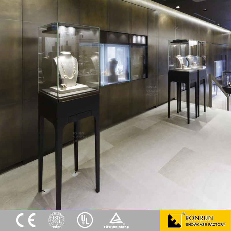Used glass display cases jewelry showcases for jewelry shop interior design