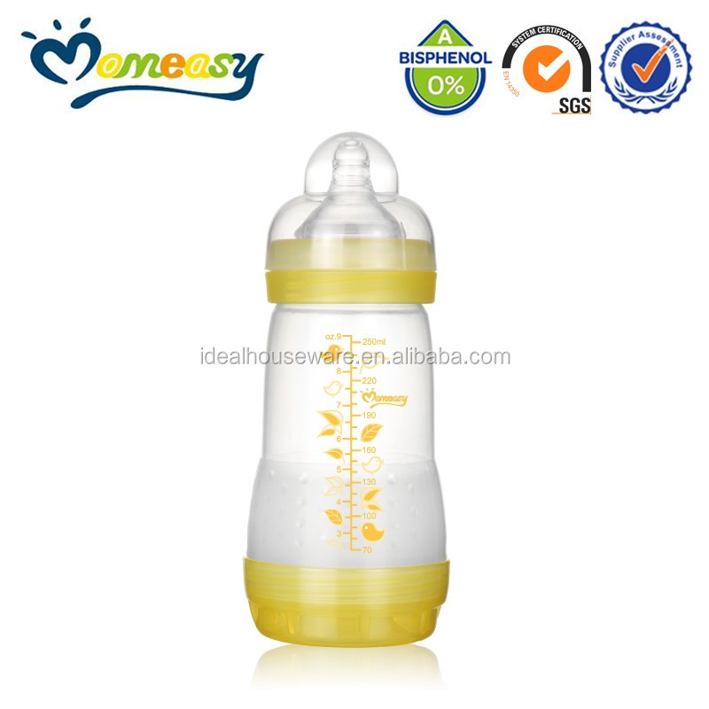 Environment Friendly BPA Free 9oz Wide-neck PP New Baby Feeding Bottle