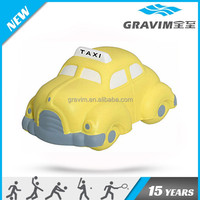 PU stress taxi shaped, cute car shape toy