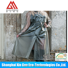 Transparent or matt fashion TPU raw materials plastic raincoat