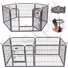 6 Panel Heavy Duty Puppy Dog Pet Playpen Run Enclosure Whelping Pen Metal Cage