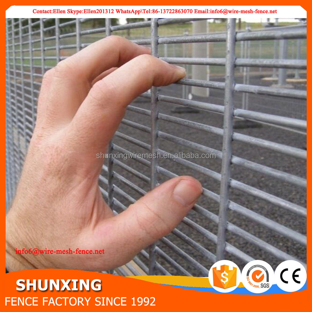 Anti climb anti cut prison 358 mesh panel fencing
