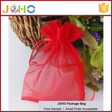 Wholesale High Quality Customized Logo Cheap Drawstring 7x9cm Heart Printed Jewelry Organza Bag