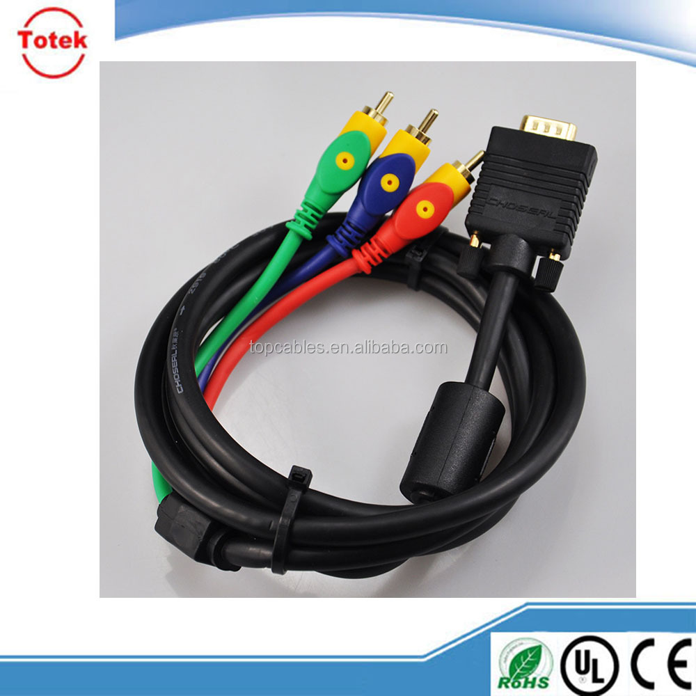 DB9 male to female VGA cable, custom mhl to vga rca cable