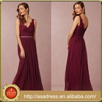 BD75 Latest Design Grace Bridesmaid Dress Sweetheart Open Back Red Dress Maid of Honor Dress