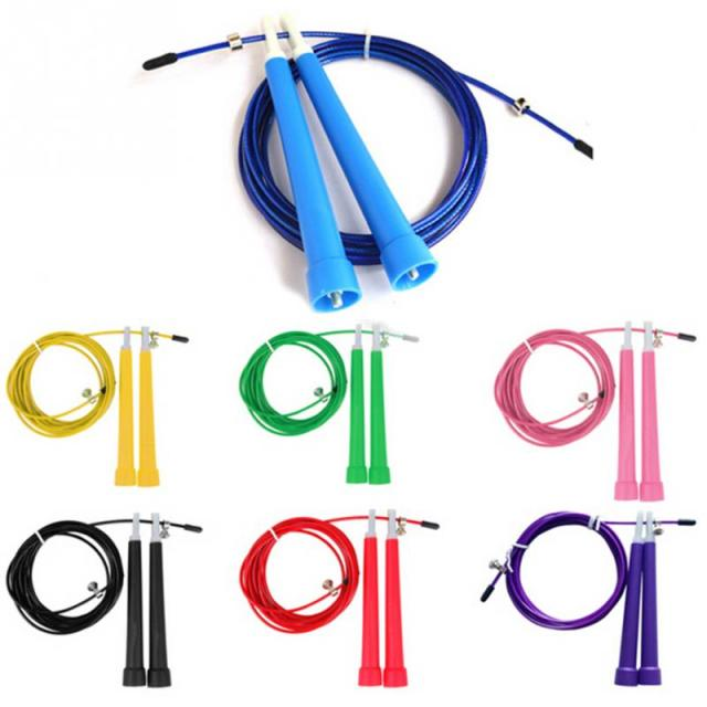 Adjustable Speed Steel Wire Skipping Jump Rope Crossfit Fitnesss Equipment 3M  7 Colors