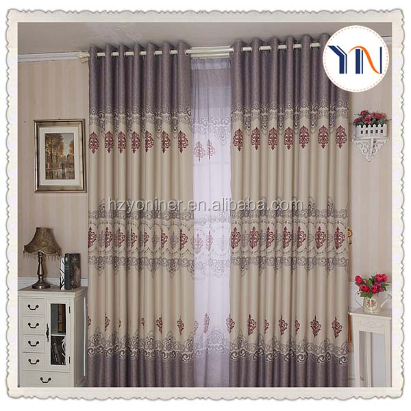 custom blackout printed curtain wholesale hotel and home curtain manufacturer