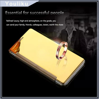 New arrival luxury flip metal mirror wake and sleep mobile phone case for samsung galaxy s7 edge note 7 j7 on7 flip cover case