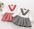 Hot sale 2-7 years old baby girl dress kids christmas winter long sleeve party dress