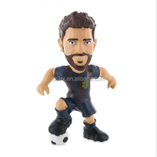 Design your own mini 3d football player/big head plastic football star action figures toys/make soccer figure manufacturer