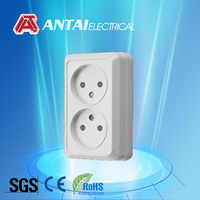 safety voltage socket,dual socket 2 pin,power saving socket with shutter