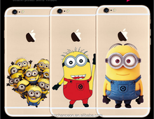 2016 hot selling the Minions pattern soft TPU mobile phone back cover case for iphone 5 5s 6 6s 6plus CO-TPU-4006