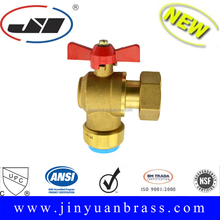 "Brass Push Fit Ball Valve 1"" Female X 25mm Quick coupling fitting with Aluminum butterfly handle"