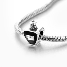 Retro men jewelry 925 sterling silver perfume bottle charm
