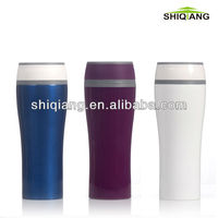 Solid Color Coffee Mugs With Logo Leak-proof Coffee Cup 400ml with PS inner and outer wall colorful mug