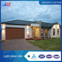Luxury low cost prefab house light steel structure villa