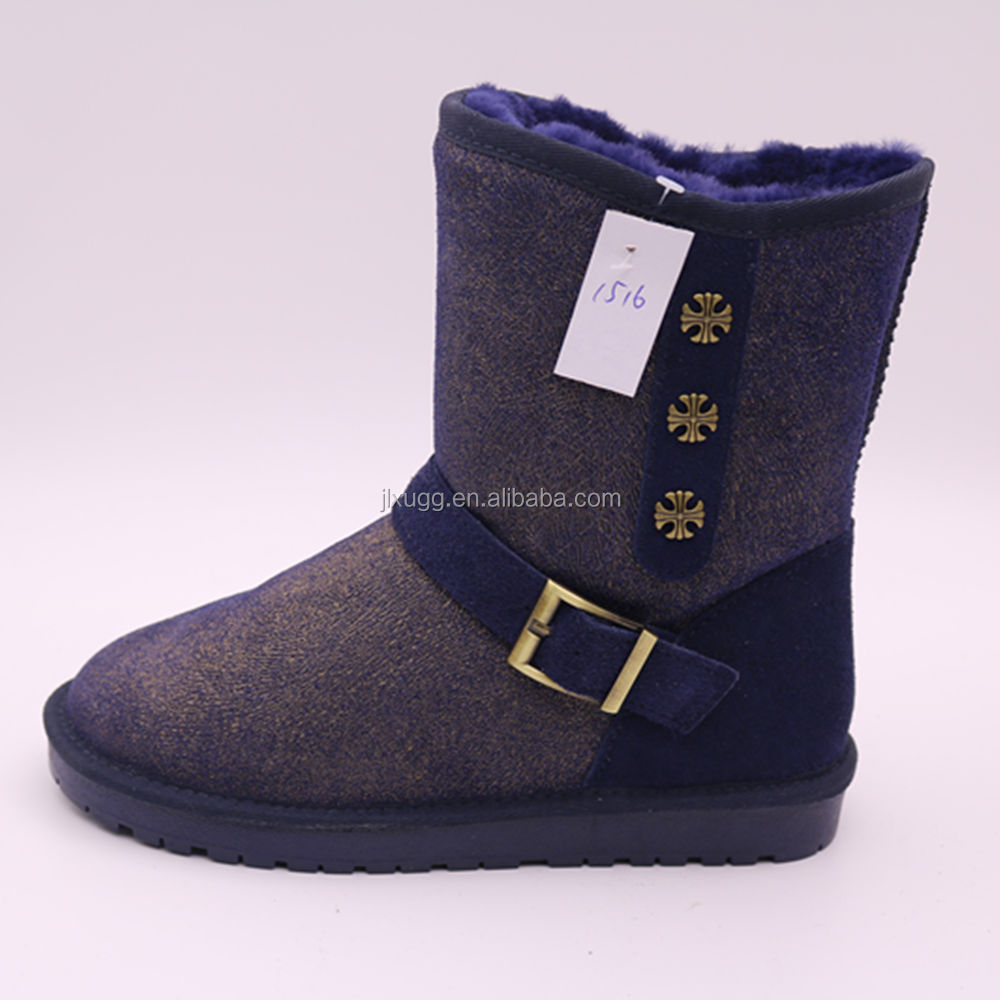 WD805 hot sale fashion sheep wool shoes china wholesale winter women snow boots