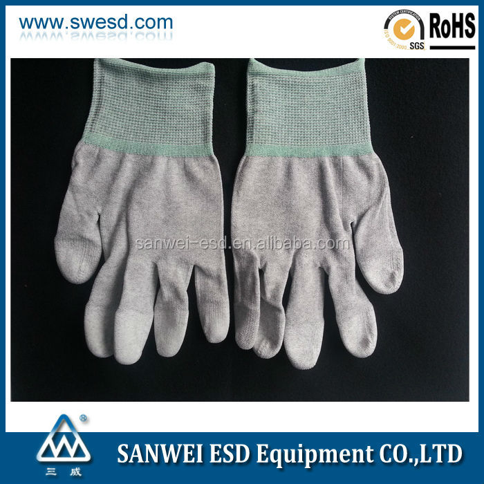 Cheap good quality ESD PU Top Fit Glove