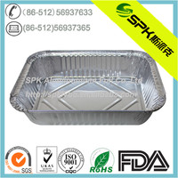 Rectangular Aluminum Foil Container For Food Heating