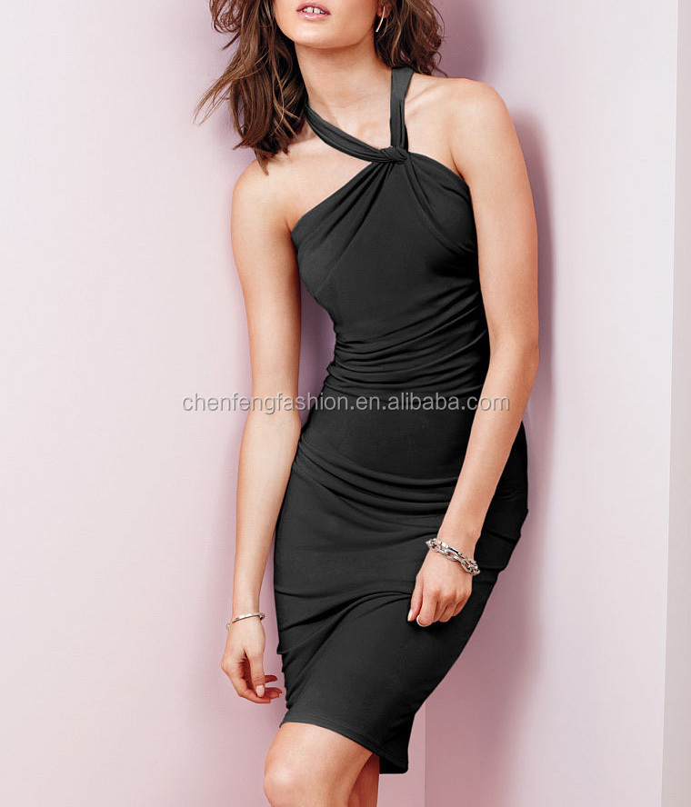 CHEFON High neck sexy ladies casual dresses pictures wholesale