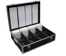 1000 CD DVD Black Aluminum Media Storage Case